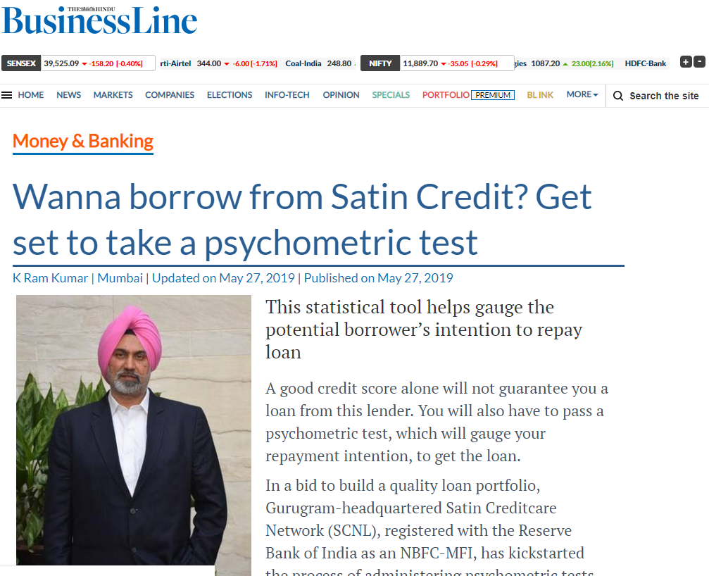 Wanna borrow from Satin Credit? Get set to take a psychometric test